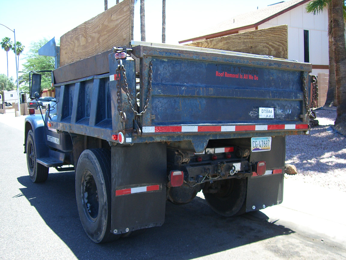 Rear of dump bed