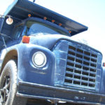 3/4 cropped front of dump truck