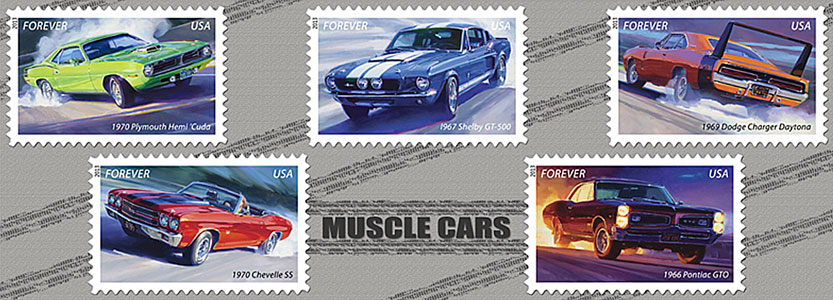 The United States Postal Service Has Recently Introduced A New Series Of Forever Stamps Called Muscle Cars