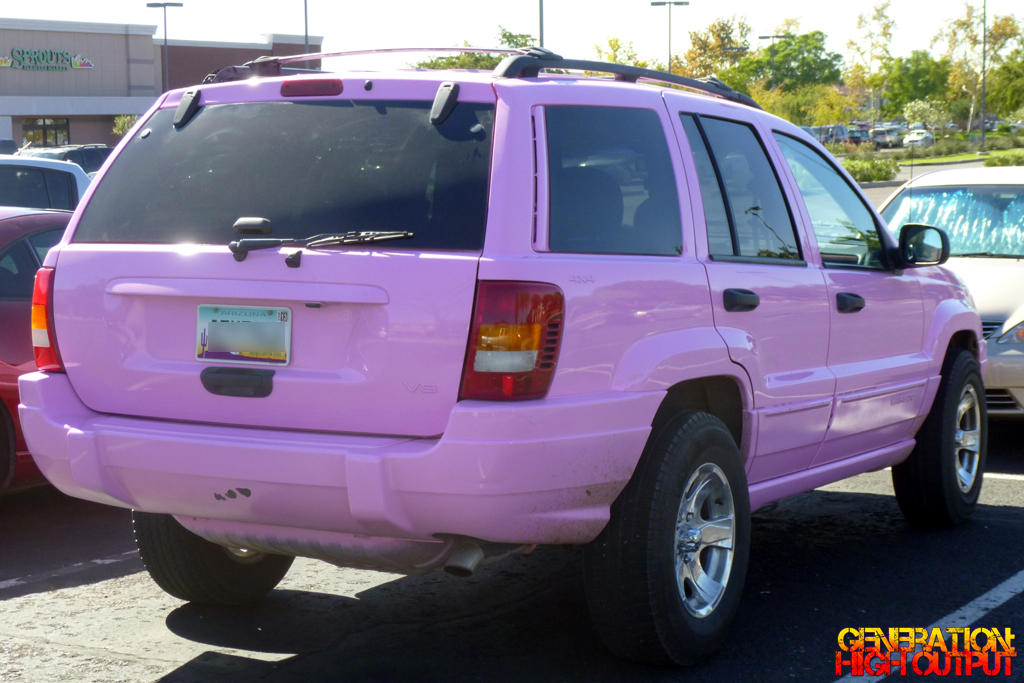 Either Way This Pink Jeep Isnu0027t Afraid To Show The World Who It Is, Over  Spray And All.