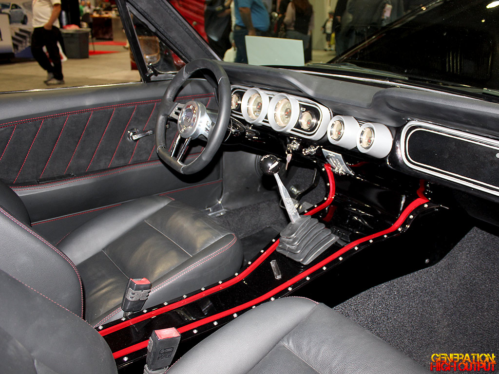sema 2014 trick flow 1966 ford mustang ksv9000 genho. Black Bedroom Furniture Sets. Home Design Ideas