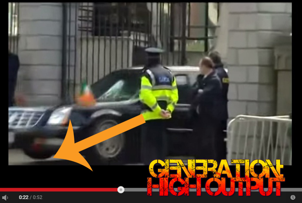 obama limo ireland suspension failure conspiracy