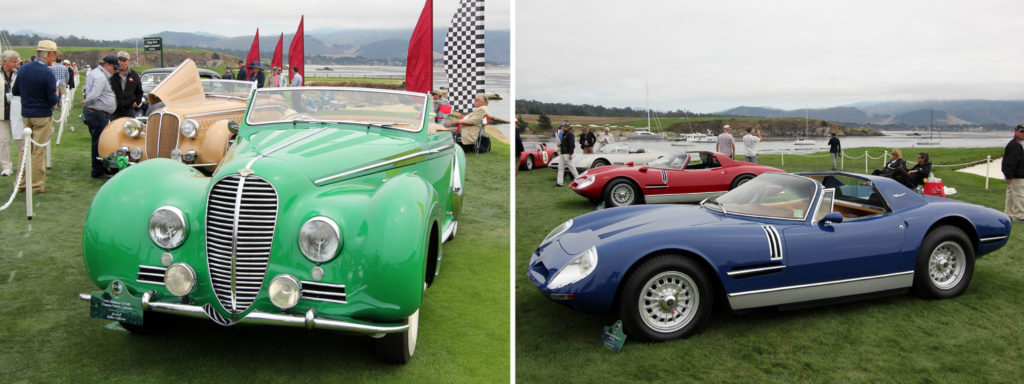 Chapron Delahaye (left), Bizzarini 5300 Spyder (right)